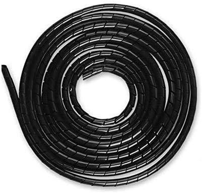 AGPTEK Kabelschlauch 4-50mm(6m), 6-60mm(4m), Organizer Kabelkanal Kabelhülle Schutz, insgesamt 10m, Schwarz