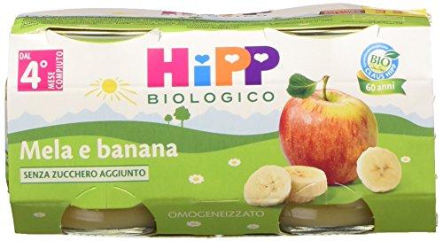 Hipp Omogeneizzato Mela e Banana - 24 vasetti da 80 g