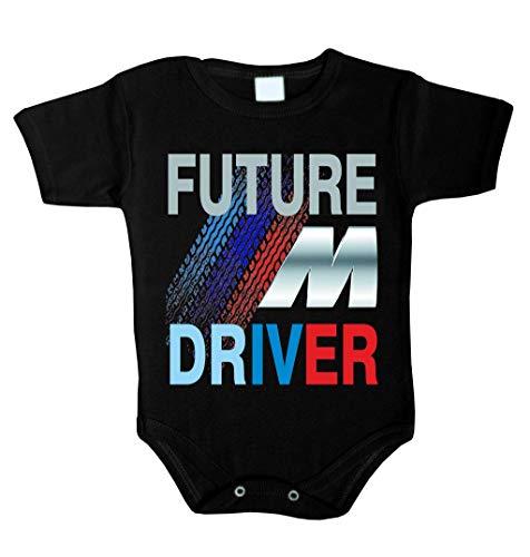Future ///M Driver Baby Body Babykleidung Strampler Unterwäsche Weihnachts Geschenk (68 (3-6 m), schwarz)