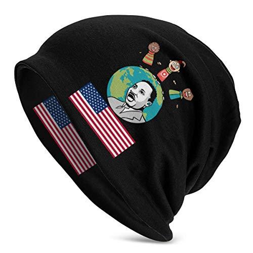 ZhangLinFu Strickmütze Mütze Totenkopfmütze Martin Luther King Warm & Soft Hut Pullover Mütze Unisex Fashion Adult Herren Strickmütze Pullover Mütze