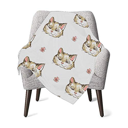 XCNGG Mantas para bebés edredones para bebésBaby Blanket Cats Kittens Cute Sketch Blankets for Baby Receiving Blanket for Toddler Bed, Crib, Stroller, Nursery Bedding Essentials 30x40in
