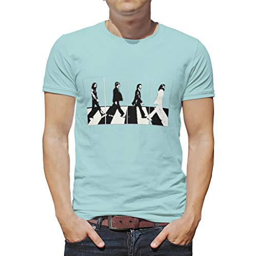 NC83 man heren T. shirt studenten top abbey-road killers shade vrije tijd zomer - 4 mannen lopen patroon los dragen