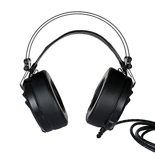 7.1 Surround Sound Gaming Headset with Cross-Platform Compatibility -Ergonomic Build at 240 G - Black