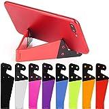 8 pz Universale Tascabile, Design Pieghevole Portatile V Modello Porta Cellulare, Supporto da Tavolo Supporto per iPad, Tablet, e-Reader, cellulari, Kindle, Confezione da 8