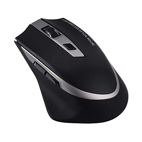 Wireless Mouse, Inphic Full Size Ergonomic Mouse,USB Optical PC Cordless Mouse for Laptop, Computer, MacBook, Black