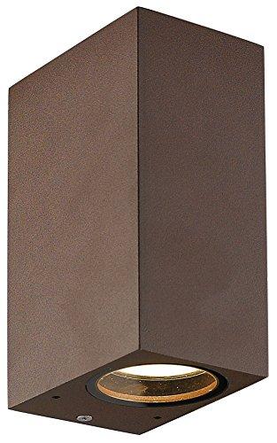 Interfan applique da esterno, marrone, 9.30X 6.80X 15cm