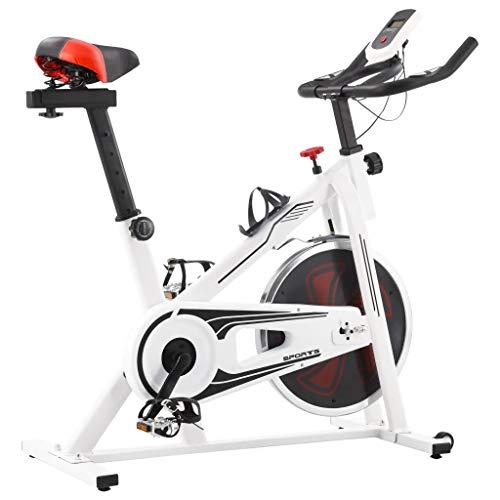 Cikonielf Elliptischer Heimtrainer mit Impulssensoren, Fitness-Fahrrad, Aerobic Fitness, leiser Heimtrainer mit LED-Display, 97 x 46 x 108 cm, maximale Tragkraft: 100 kg, Weiß und Rot