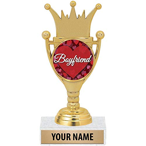 Crown Awards Personalized Boyfriend Gifts, Custom Valentines Day Boyfriend Trophy Gift, Unique Gift Ideas for Him Prime