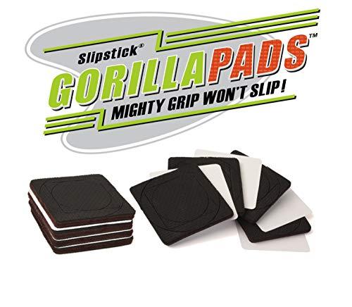 Slipstick CB146 Rubber Pads 25 Inch Black 8 Count