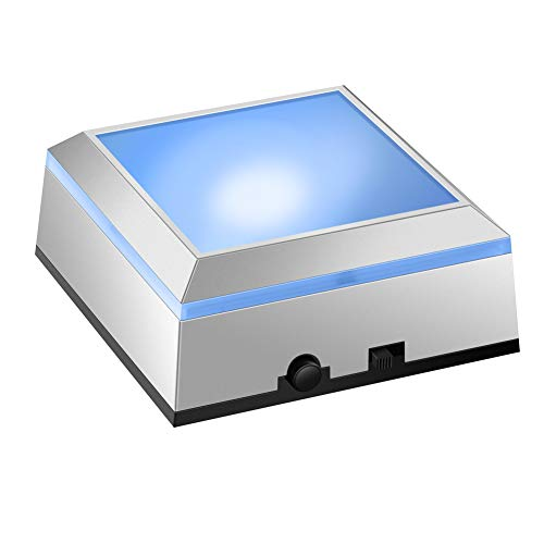 IFOLAINA LED Light Base Display Box Show Stand Square Vase Battery Multicolor Operated for Crystal Art