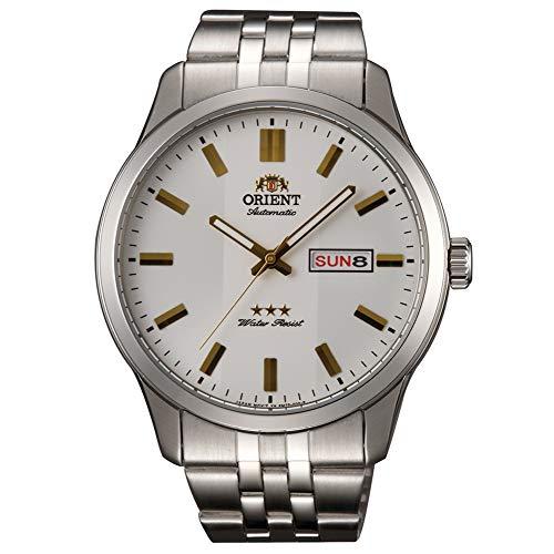 Orient Herren Analog Automatik Uhr mit Edelstahl Armband RA-AB0014S19B