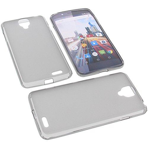 foto-kontor Tasche für Archos 55 Helium Ultra Gummi TPU Schutz Handytasche grau