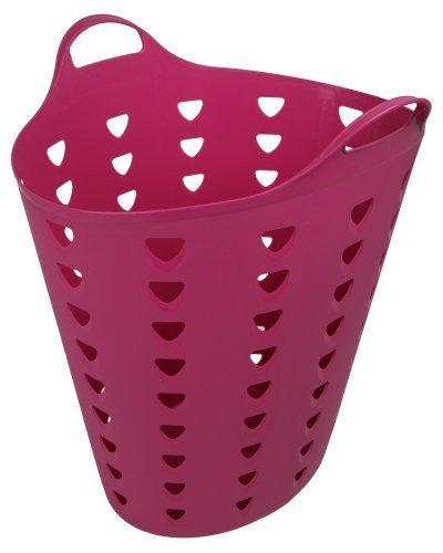 Ondis24 großer belüfteter Wäschesammler Universalkorb Flexi Tub fuchsia ca. 60 Liter auch als Kaminholzbehälter geeignet