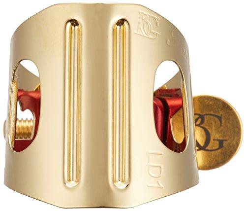 BG LD 1 Ligature with Cap, Alto Saxophone/Clarinet Duo, Gold-Plated