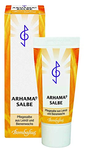 Arhama-Salbe Spar-Set 2x20ml. Anzuwenden nach Sonnenbad und Kälte, bei eingerissenen Mundwinkeln, bei narben und im Wundrandbereich. Ihr zuverlässiger Bergleiter aus Leinöl und Bienenwachs.