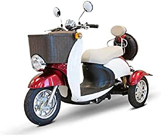 3 Wheel Electric Scooter | EW 11 Euro Mobility Scooter for Adults | Recreational E Scooter (Red)