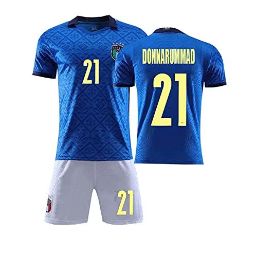 Divisa da Calcio Bambino Adulto, Maglia Nazionale Italiana Calcio, N° 21 Donnarumma Maglia Portiere...