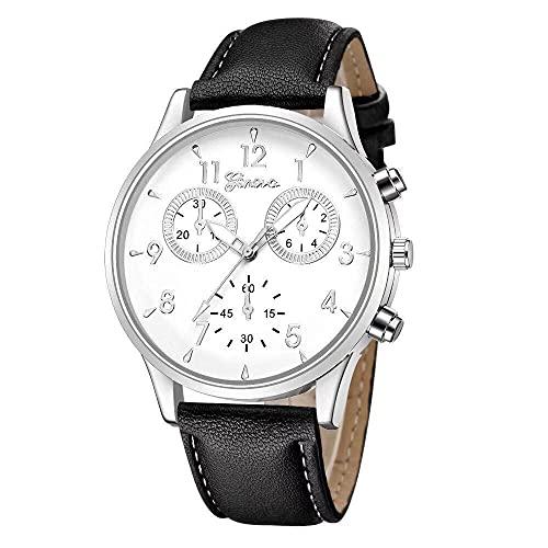 ZFAYFMA Reloj para Hombre, Reloj De Cuarzo Acero Inoxidable Mano Acero Inoxidable Fecha Negocios Casual Moda Lujo Impermeable Multifuncional Damas 12