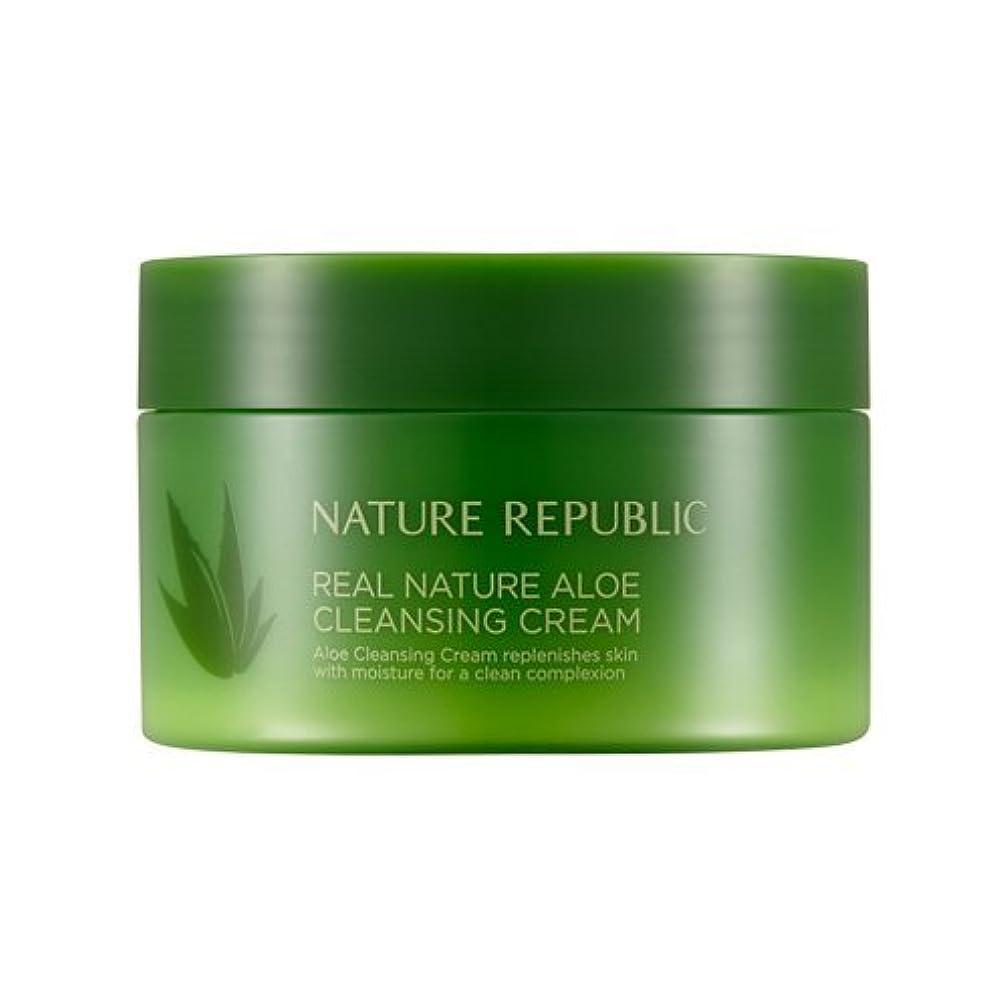 鼓舞するビート厚くするNature Republic Real Nature Aloe Cleansing Cream / ネイチャーリパブリックリアルネイチャーアロエクレンジングクリーム200ml