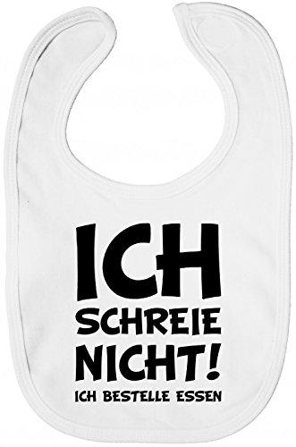 Shirt Happenz Schreihals Lätzchen Baby Neugeboren Weinen Sabberlätzchen Baby-Lätzchen, Farbe:Weiß (White BZ12);Größe:OneSize