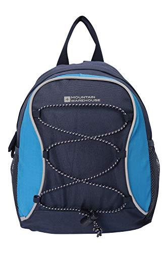 Mountain Warehouse Walklet 6L Rucksack - Reflective Details Casual Daypacks, Bottle Pockets Backpack, Bungee Cords Bag, Shoulder Straps - Best for Picnics, Outdoors Dark Blue