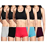 Lux Cozi Women's Cotton Boyshorts (Pack of 4) (LUX COZI_Color May Vary)