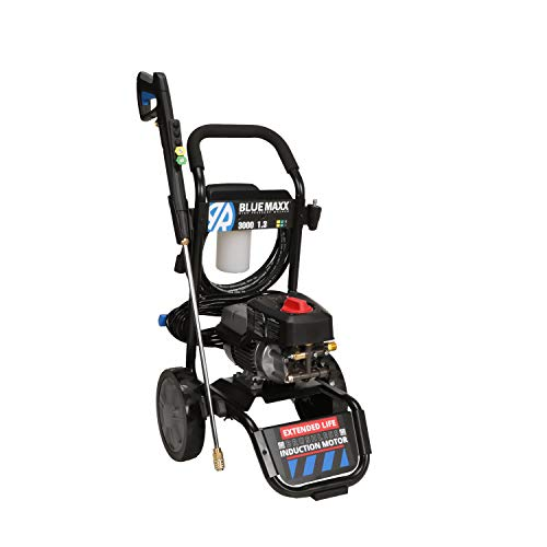 AR Blue Clean Maxx3000, Induction Motor 3000 PSI Electric Pressure Washer, 1.3 GPM with Cart, Power car wash, Driveway, Fence, Deck, ATV, Boat
