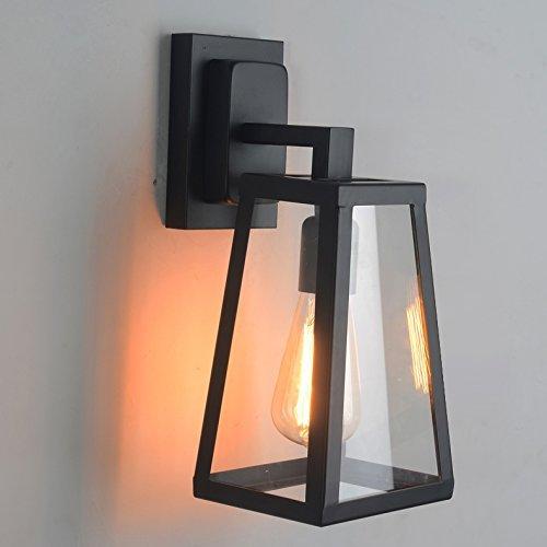 WOF Nordic schmiedeeisen Glas Box Wandleuchte Amerikanischen Land Restaurant Lampe Wohnzimmer Lampe Schlafzimmer Edison Wandleuchte Wandleuchte