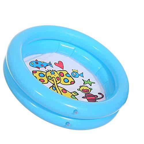 TEFIRE Baby Pool Planschbecken Kinder aufblasbar Aufstellpool klein für Dusche 65 x 16 cm Blau