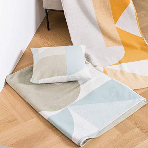 David Fussenegger - Velvet Plaid, Decke - Artdeco - hellgrün - 135 x 200 cm