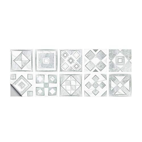 yasu7 Pegatinas para azulejos de pared autoadhesivas, resistentes al agua, para decoración de baño o cocina
