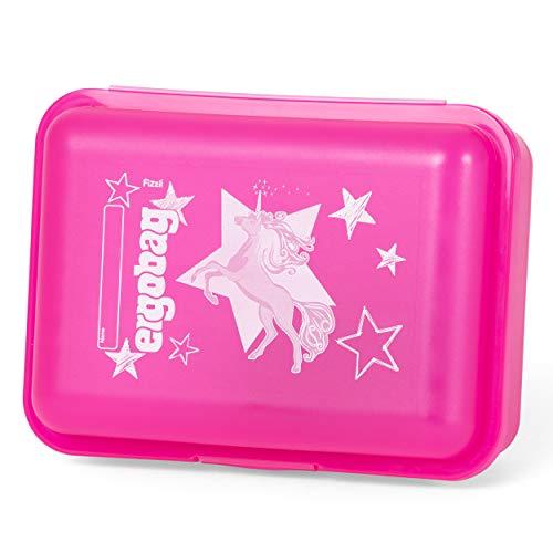 ergobag Brotdose - Trennfach für Obst, BPA-frei - CinBärella - Pink