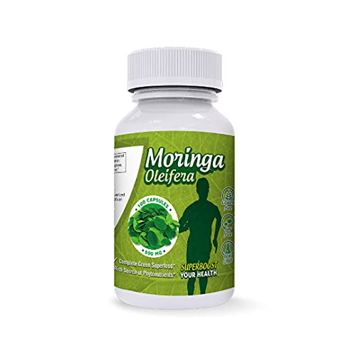 Pure Moringa Capsules - Leaf Powder Extract - 1000 mg per Serving - Energy and Metabolism - Boost Inmune System - Rich in Nutrients and Antioxidants -Superfood from Peru - Non GMO - Gluten Free