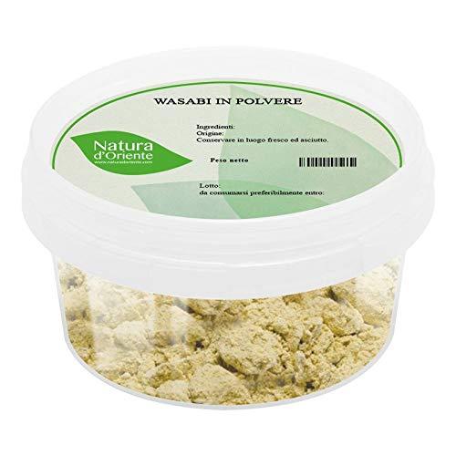 NATURA D'ORIENTE - Wasabi D'Ahataka in polvere- 75g -JAPAN - Prima Qualità 100% - Confezionato in un barattolo ermetico salva aromi
