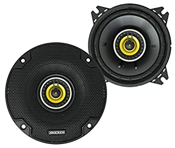 KICKER CS Series CSC4 4 Inch Car Audio Speaker with Woofers Yellow  2 Pack