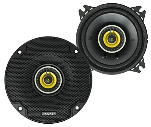 KICKER CS Series CSC4 4 Inch Car Audio Speaker with Woofers, Yellow (2 Pack)