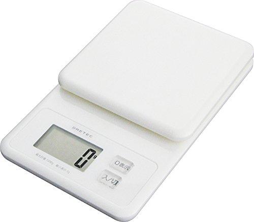 DRETEC Digital Scale Whip 1kg White KS-147WT