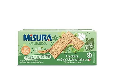 Misura Natura Ricca Soia Crackers alla Soia - 400 Gr