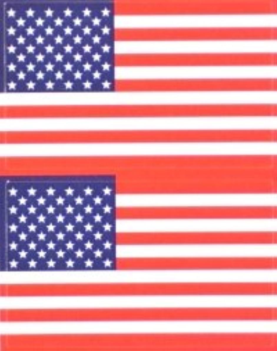 ナチュラル夫見通し星条旗(米国旗?アメリカ)★フェイスシール【応援(サポーター)】/1シート2枚組