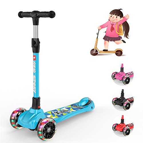 New Olym Kick Scooter for Kids 3 Wheel Toddler Scooter for Boys Girls Folding Mini Scooter with...