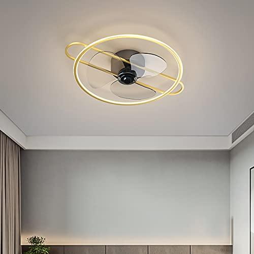 LED Ventilador Techo Con Luz Silencioso Pequeño Ventilador De Techo Con Luz Y Mando A Distancia Ventiladores De Techo Con Luz Y Mando A Distancia 50CM*15CM,Oro