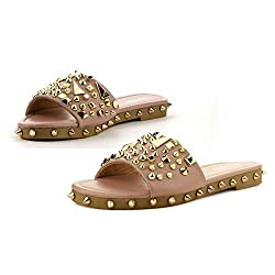 Nude Tonie Sandals Slide Studded Mules Slip On