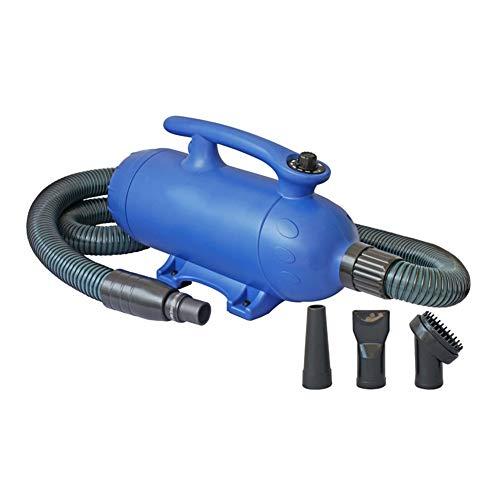 Ryan haardroger voor honden, 2500 W, voor huisdieren, vachtverzorging, haardroger, lage geluidsontwikkeling, ventilatorkachel, badaccessoires, verticale houder (blauw), A