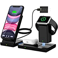 WisFox 3 in 1 Qi-Certified Wireless Charging Station & Charging Stand Dock