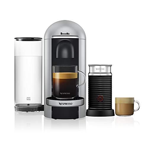 Breville Nespresso VertuoPlus Deluxe Bundle Coffee Machines, Silver, BNV450SIL