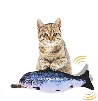 EKKONG Cataire Jouets Poisson, Cataire Chat Jouets, Chat Jouet en Peluche, Simulation Poissons en Peluche, Jouet interactif pour Chat pour Kitty Chaton (Type B)