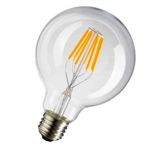 10W G125 E27 LED Filamento Lampadina vetro ES Globo Bianco Fredda 6000K 125mm ES Edison vite LED Retro Filamento Globo Lampadina da 100 Watt Equivalenti a Incandescenza