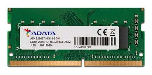 MEMORIA ADATA 16GB DDR4-2666MHZ 1.2V - NOTEBOOK - AD4S266616G19-SGN
