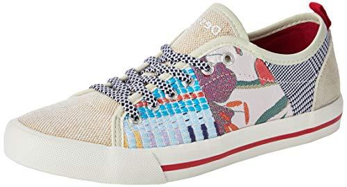 Desigual Damen Shoes Alpha Patch Sneaker, Beige (Cream 1011), 39 EU