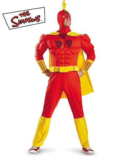 『The Simpsons Radioactive Man Classic Muscle Costume シンプソンズ放射性マンクラシックマッスル大人用コスチューム♪ハロウィン♪サイズ:X-Large (42-43)』のトップ画像